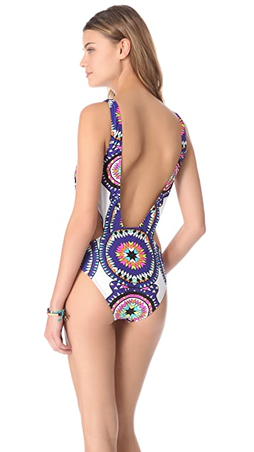 Mara Hoffman Pow Wow Cutout One Piece Swimsuit