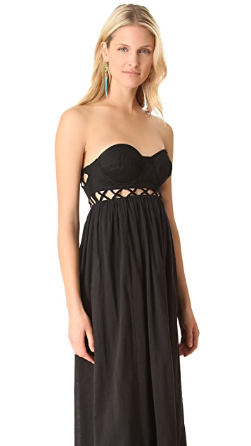 Mara Hoffman Frida Lattice Cover Up Dress