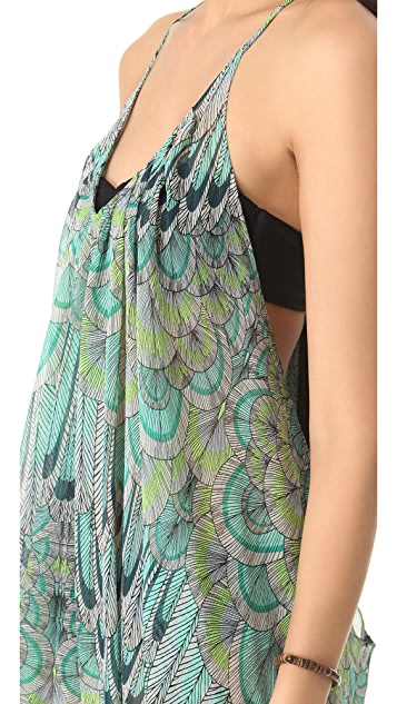 Mara Hoffman Feather Cover Up Dress