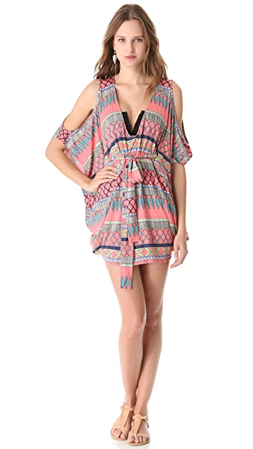 Mara Hoffman Frida Open Shoulder Poncho Cover Up