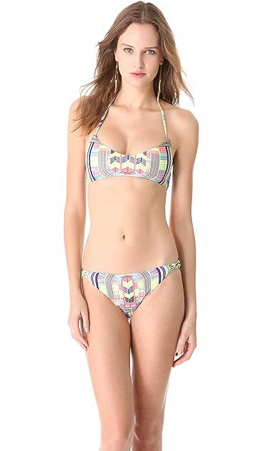 Mara Hoffman Electric Casino Bikini Top