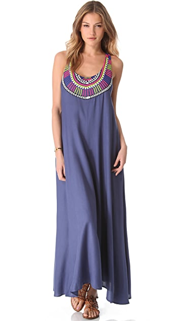 Mara Hoffman Electric Casino Beaded Cover Up Maxi Dress
