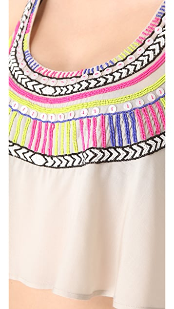 Mara Hoffman Electric Casino Beaded Cover Up Top