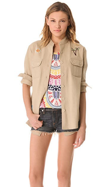 Mara Hoffman Beaded Jacket / Top