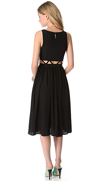 Mara Hoffman Lattice Waist Dress