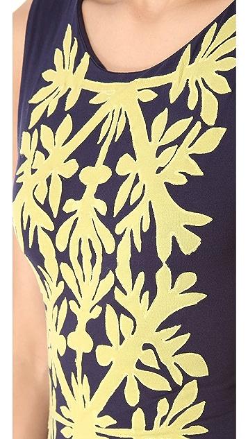 Mara Hoffman Applique Column Dress