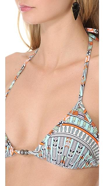 Mara Hoffman Rainbow Bikini Top