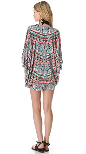 Mara Hoffman Rainbow Braided Belt Poncho