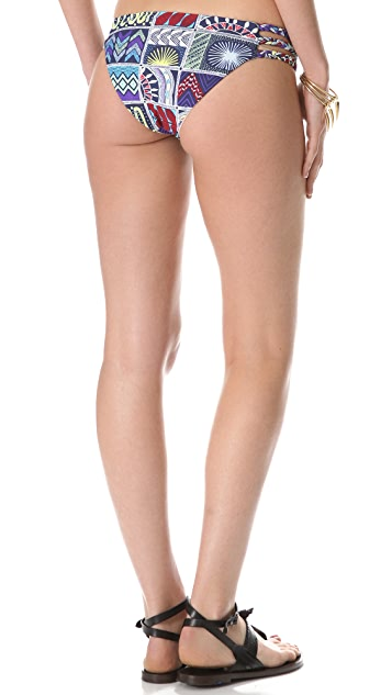 Mara Hoffman Quilts Braided 3 Strap Bikini Bottoms