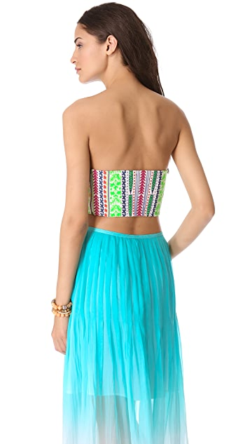 Mara Hoffman Medicine Wheel Embroidered Bustier Top