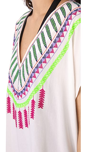 Mara Hoffman Medicine Wheel Embroidered Poncho