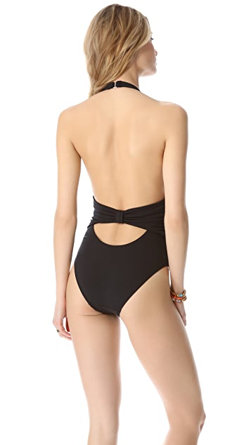 Mara Hoffman Bow One Piece Swimsuit