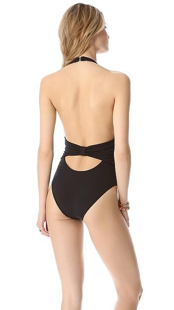 Mara Hoffman Bow One Piece Swimsuit