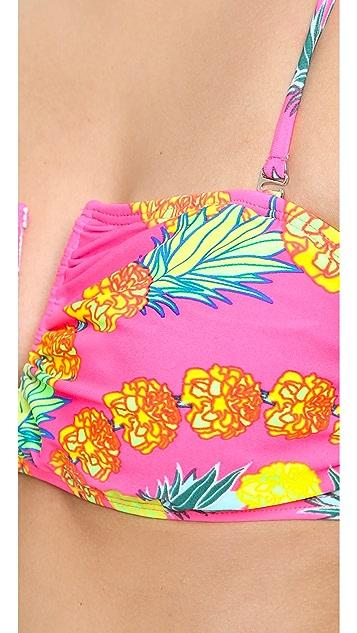 Mara Hoffman Garlands V Wire Bandeau Bikini Top