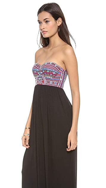 Mara Hoffman Mirror Embroidery Bustier Dress