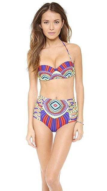 Mara Hoffman Rays Lattice High Waisted Bikini Bottoms