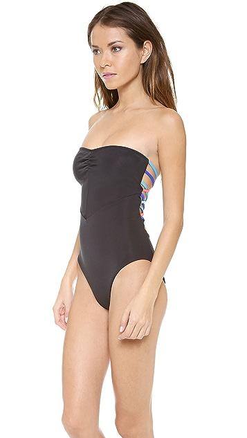 Mara Hoffman Lattice Back One Piece Swimsuit