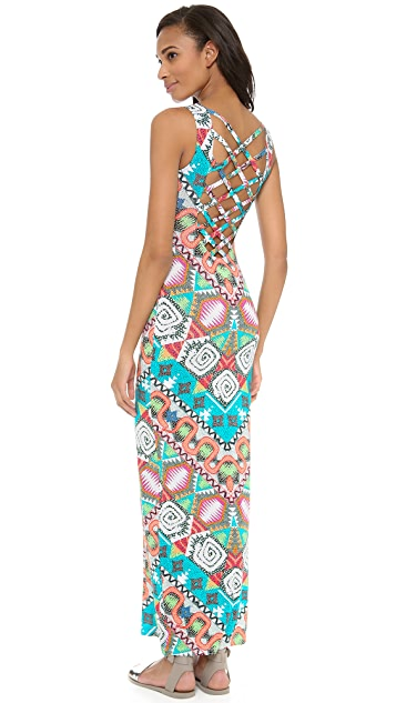 Mara Hoffman Astrodreamer Lattice Back Maxi Dress