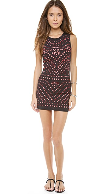 Mara Hoffman Laser Cut Mini Dress