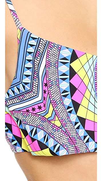 Mara Hoffman Naga Cropped Bikini Top