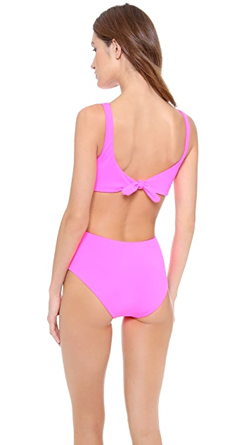 Mara Hoffman Front Twist One Piece Swimsuit