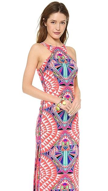 Mara Hoffman High Neck Column Maxi Dress
