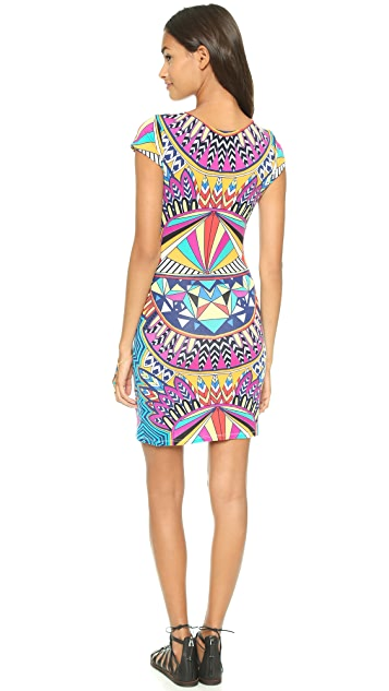 Mara Hoffman Cap Sleeve Mini Dress