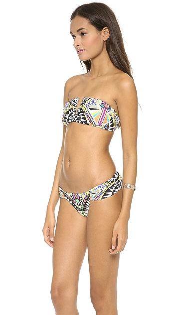 Mara Hoffman Cosmic Fountain Bandeau Bikini Top