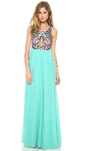 10797ee38b7e Mara Hoffman Cosmic Fountain Embroidered Maxi Dress