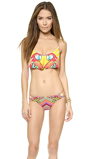 Mara Hoffman Draped Panel Bikini Top