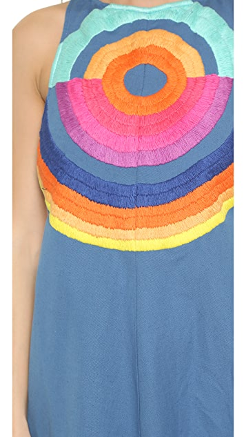Mara Hoffman Embroidered Cutout Dress