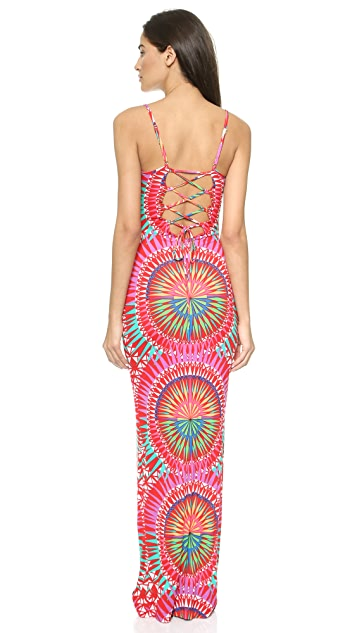 Mara Hoffman Supernova Lace Up Back Dress