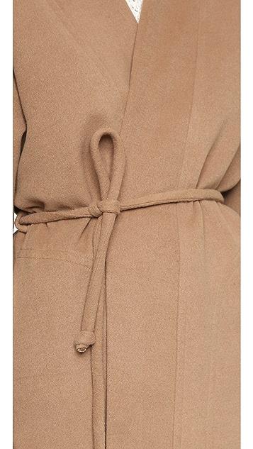 Mara Hoffman Wool Wrap Coat