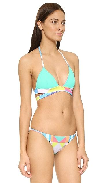 Mara Hoffman Reversible Wraparound Bikini Top