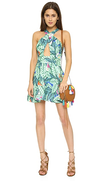 Mara Hoffman Leaf Linen Crossover Dress