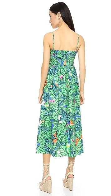 Mara Hoffman Leaf Bustier Dress