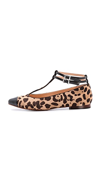 Marais USA T Strap Haircalf Flats