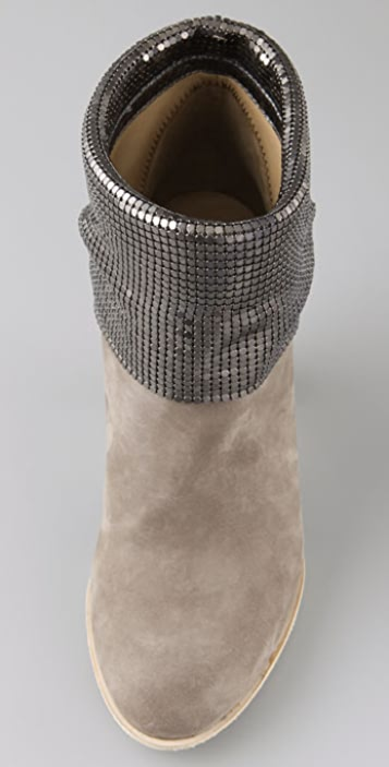 Marc by Marc Jacobs Chain Mail Mid Heel Booties