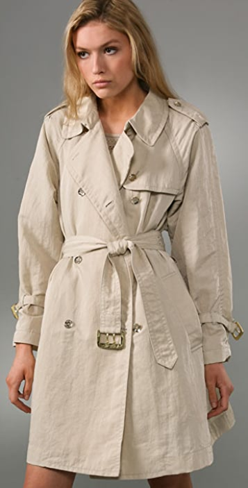 Marc by Marc Jacobs Billie Twill Trench Coat