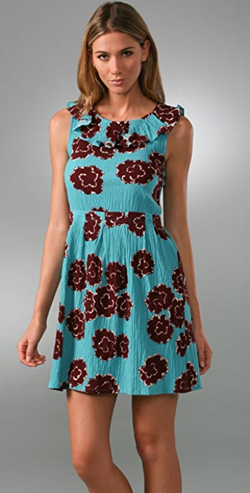 Marc by Marc Jacobs Cottonball Flower Dress