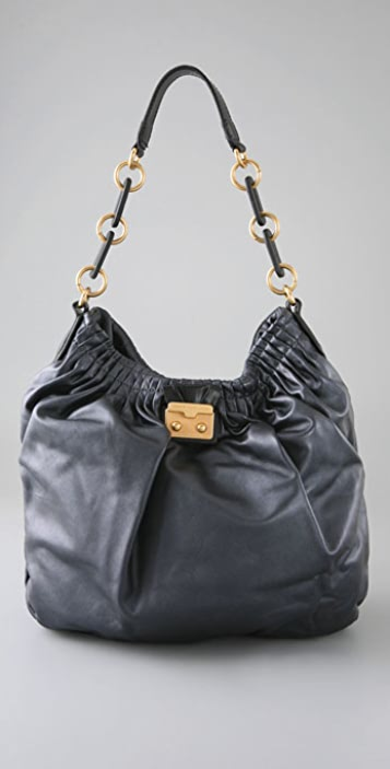 Marc by Marc Jacobs Pretty Nappa Metallic Hobo