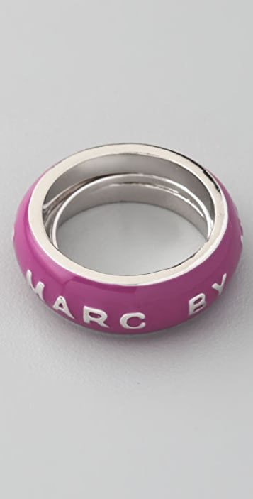 Marc by Marc Jacobs Logo Band Ring