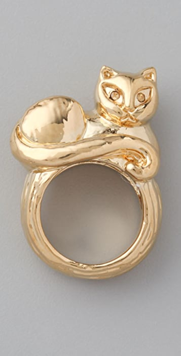 Marc by Marc Jacobs Fantastical Tale Strass Cat Ring
