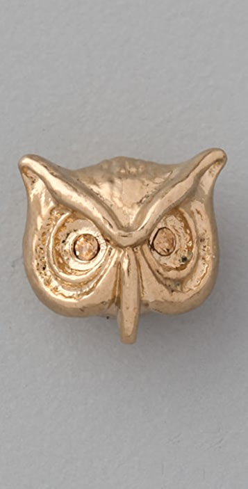 Marc by Marc Jacobs Fantastical Tale Strass Owl Stud Earrings