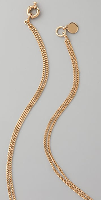 Marc by Marc Jacobs Party Girl Pave Triple Bolt Necklace