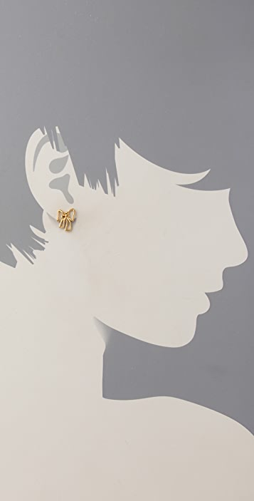 Marc by Marc Jacobs Metal Bow Stud Earrings