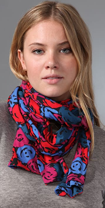 Marc by Marc Jacobs Shadow Peony Scarf