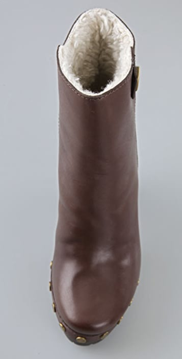 Marc by Marc Jacobs Clog Sherpa Booties