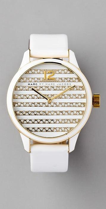 Marc by Marc Jacobs Lidia Stripe Watch