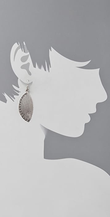 Marc by Marc Jacobs Flight Marquis Leaf Earrings